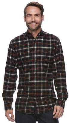 Croft & Barrow Men's True Comfort Plaid Classic-Fit Flannel Button-Down Shirt