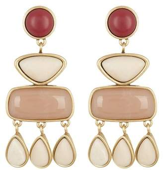 Lucky Brand Stone Statement Dangle Earrings