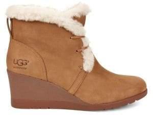 UGG Jeovana Wedge Fur Trimmed Boots