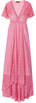 Missoni Crochet-knit Maxi Dress - Pink