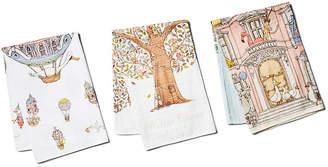 Atelier Choux House Trio Cotton Swaddle Gift Set - White CHOUX