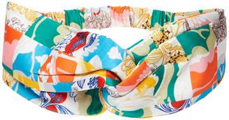 Colette Malouf Palm Beach Silk Headwrap