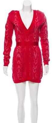 Balmain Jacquard Mini Dress
