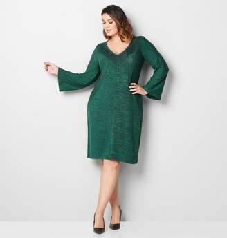 Avenue Embroidered Hacci Sheath Dress