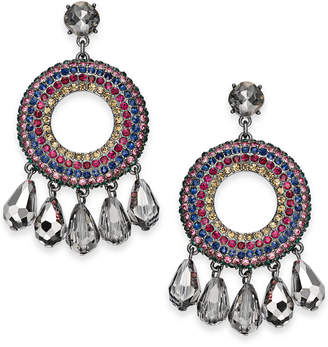 "INC International Concepts I.N.C. Large 2"" Hematite-Tone Multicolor Crystal Shaky Drop Earrings, Created for Macy's"