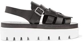 Maison Margiela Leather Platform Sandals