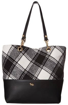 Emma Fox Jutland Plaid Tote $148 thestylecure.com