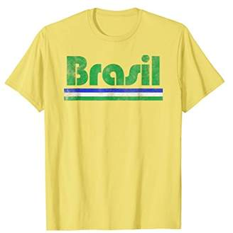 2018 Brasil Brazil Fan Retro Vintage Flag T-Shirt