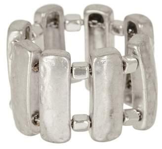 Robert Lee Morris Jewelry Sculptural Rectangle Ring - Size 7.5