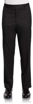 Calvin Klein Slim-Fit Pinstriped Wool Trousers