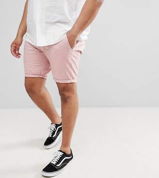 Asos DESIGN Plus Skinny Chino Shorts In Pastel Pink