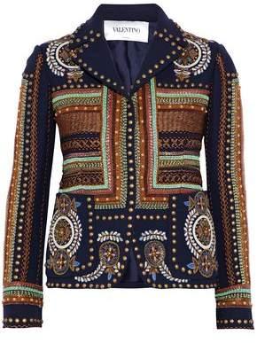 Valentino Embellished Wool Jacket