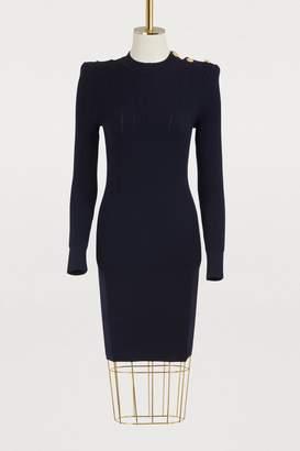 Balmain Wool mini dress
