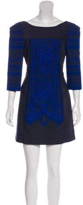 Tibi Embroidered Panel Mini Dress