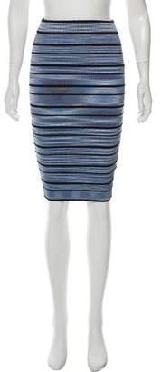 Ronny Kobo Printed Pencil Skirt