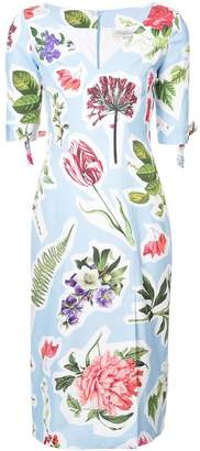 Carolina Herrera printed fitted dress