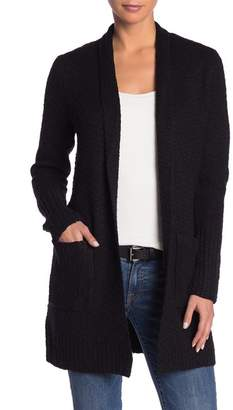 Kensie Long Sleeve Knit Tie Waist Cardigan