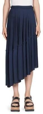 Kenzo Asymmetric Accordion Pleated Skirt