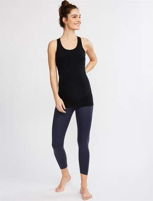 A Pea in the Pod Beyond The Bump Matte Pearlized Fold Over Belly Maternity Leggings
