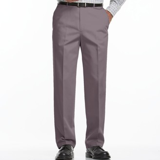 Haggar Big & Tall Work to Weekend Classic-Fit Flat-Front Expandable Waist Pants