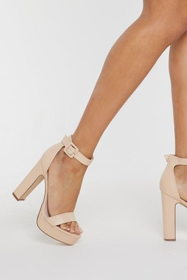Nasty Gal Sorry to Platform You Faux Leather Heels