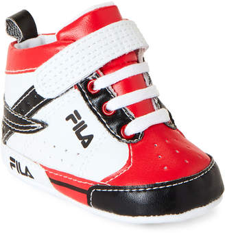 Fila Infant Boys) White & Red High-Top Sneakers