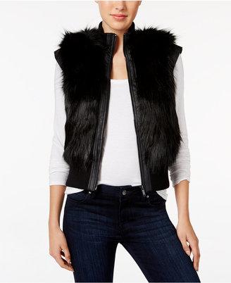 Calvin Klein Jeans Faux-Fur Vest $188 thestylecure.com