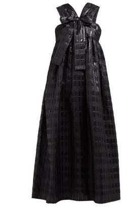 74c2ffaf925 Cecilie Bahnsen - Riley Bow Front Sleeveless Midi Dress - Womens - Black