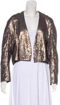 Dries Van Noten Sequined Silk Jacket