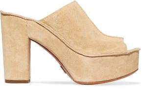 Michael Kors Elsa Suede Platform Sandals