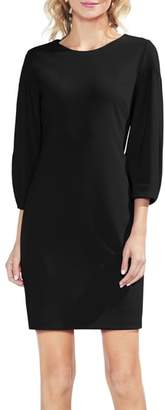 Vince Camuto Bubble Sleeve Stretch Crepe Ponte Dress