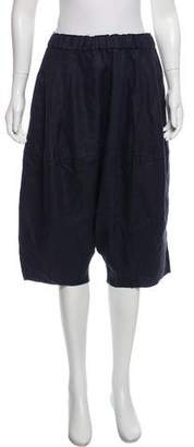 Bassike Linen Drop Crotch Shorts