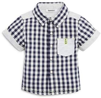 3 Pommes Gingham Short-Sleeve Shirt