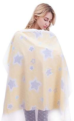RTWAY Nursing Cover, Breastfeeding Nursing Cover Baby CarSeat Canopy Covers 100% Cotton Breathable Cover Up for Breast Feeding Babies