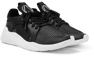 McQ Gishiki Leather-Trimmed Mesh Sneakers