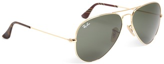 Brooks Brothers Ray-Ban Aviator Sunglasses with Burgundy BB#1 Rep Stripe