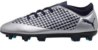 Puma Junior FUTURE 2.4 FG/AG Football Boots Silver/Peacoat