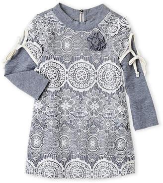 Baby Sara Infant Girls) Lace Long Sleeve Dress