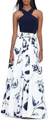 Lauren Ralph Lauren Printed-Skirt Gown $290 thestylecure.com