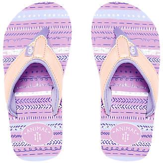Animal Children's Swish Glitz Flip Flops, Pink