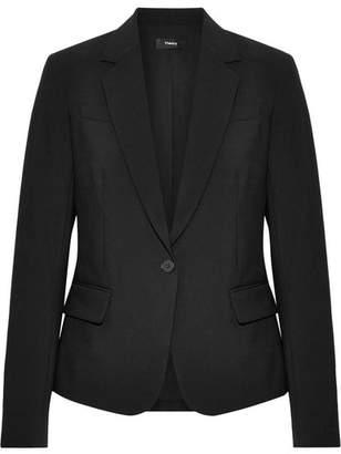 Theory Gabe Wool-blend Crepe Blazer - Black