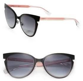 Fendi 52MM Notched Cat Eye Metal Sunglasses