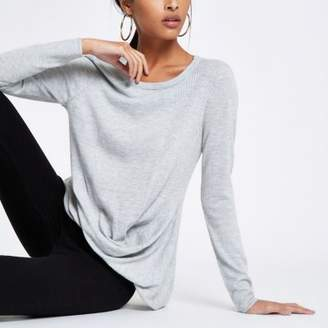 River Island Grey twist front top