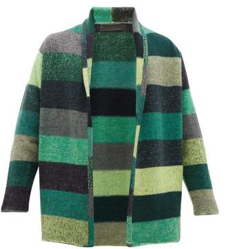 The Elder Statesman Italy Striped Cashmere Cardigan - Mens - Green Multi