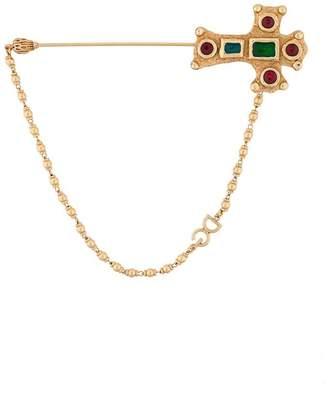 Dolce & Gabbana encrusted cross brooch
