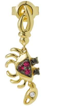 Yvonne Léon Mini Crab Ruby, Gold and Diamond Earring
