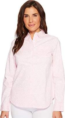 U.S. Polo Assn. Women's Long Sleeve Fancy Poplin Blouse