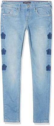 Tommy Hilfiger Girl's Sophie Lr Skinny Mbbst Jeans, (Milky Bleach Blue Stretch 911), (Size: 12)