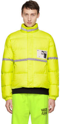 Misbhv Yellow Reflective Down Jacket