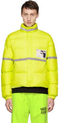 Misbhv Yellow Reflective Down Jacket